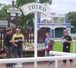 Darin collects our trophy from Mick Walker at Uttoxeter, Jul 2007